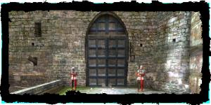 Porte de la digue, vue du Quartier du Temple