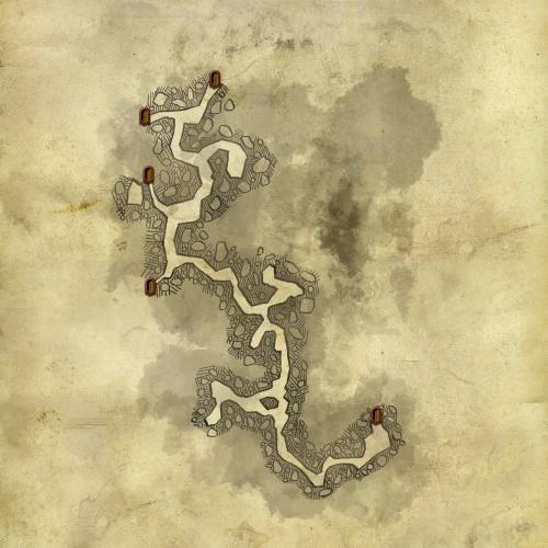 Carte de la grotte sous le camp kaedwenien