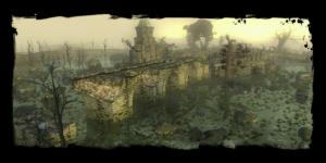 Île dans le cimetière