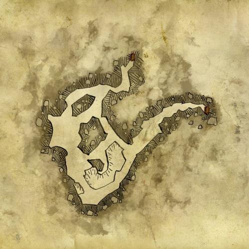 Carte de la grotte des nekkers