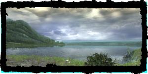 Vue du lac du vieux château