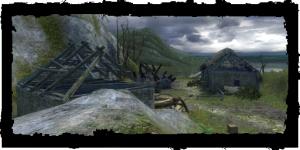 les ruines du village