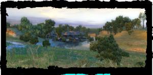 le village au coucher du soleil