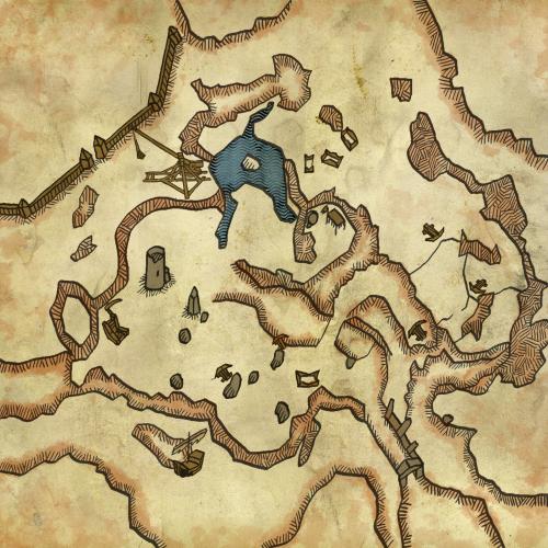 Carte du champ de bataille