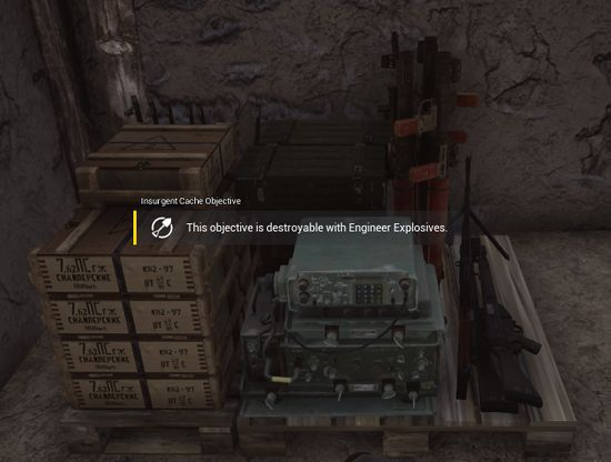Insurgency weapon cache