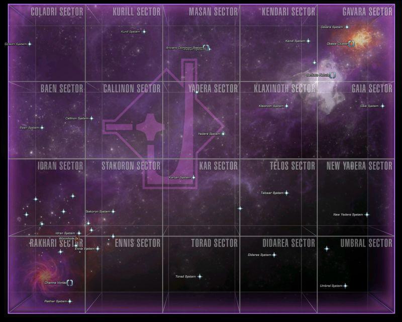 Karte des Gamma-Quadrant