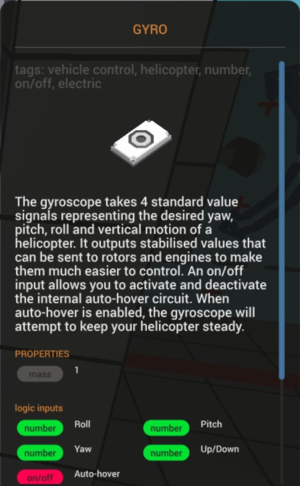 Wiki/Guides/Gyro - Official Stormworks: Build and Rescue Wiki