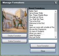 Formations Attaque