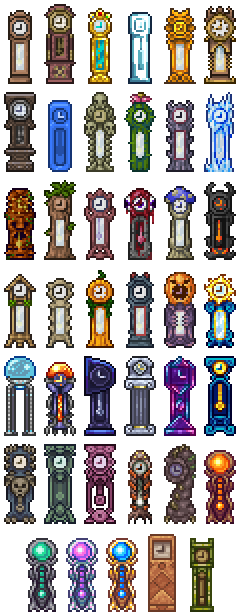 Grandfather Clocks - The Official Terraria Wiki