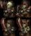 Squelette en armure rouillée