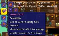 Magma Skull (Obsidian Skull + Magma Stone)