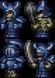 Squelette en armure bleue