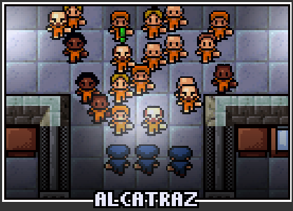 The prison selection screen for Fhurst Peak Alcatraz