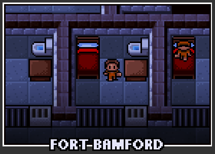 The prison selection screen for Fort Bamford