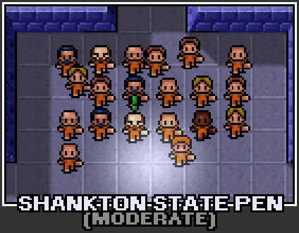 The prison selection screen for Shankton State Pen