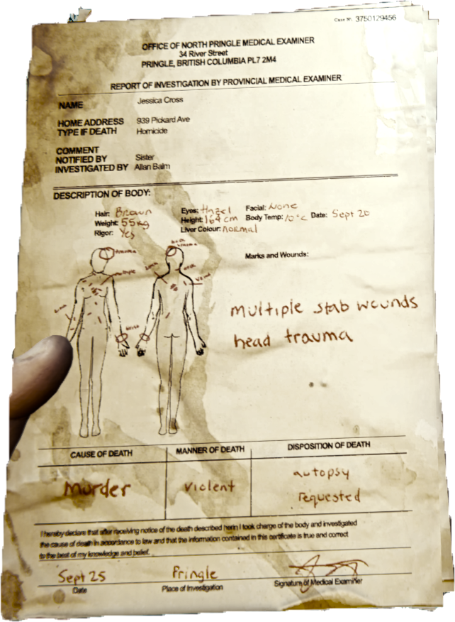 Autopsy Report Official The Forest Wiki