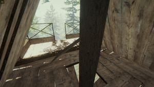 Blick Ins Innere Des Alpinen Baumhauses
