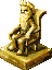 Gold statue of Nux, the god king.png