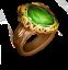 Lesser Moldavite Ring