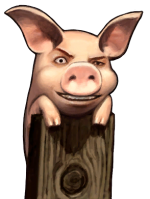 Gallagher-faced Pig