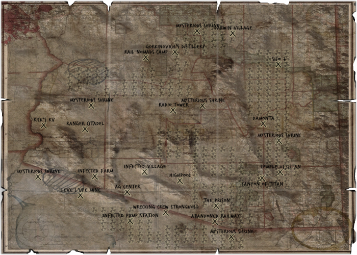 Interactive Map Of Arizona.Wasteland 2 Map Official Wasteland 3 Wiki