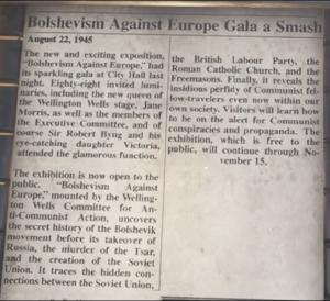 """Bolshevism Against Europe Gala a Smash"" article."