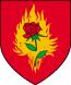 Herb Zakonu Płonącej Róży za życia Jakuba de Aldersberga