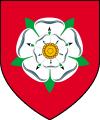 karminowe płaszcze ze znakiem białej róży
