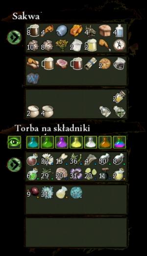 Sakwa i Torba na składniki
