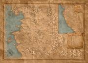 Mapa państwa w grze Wiedźmin