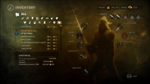 The inventory panel