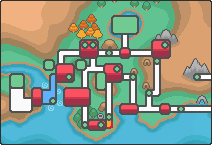 Location of route 33 in Johto