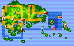 Location of mirage Island in Hoenn