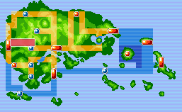 Location of route 116 in Hoenn