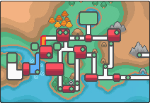 Location of route 39 in Johto