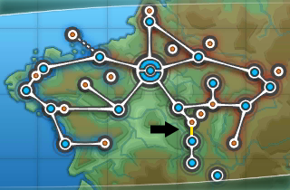 Location of route 2 in Kalos