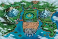 Unova as seen in Pokémon Black and White