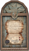 a framed document