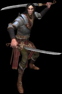 Yaevinn, an elven member of Scoia'tael