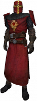Order knight, dress uniform, red helmet, yellow detail