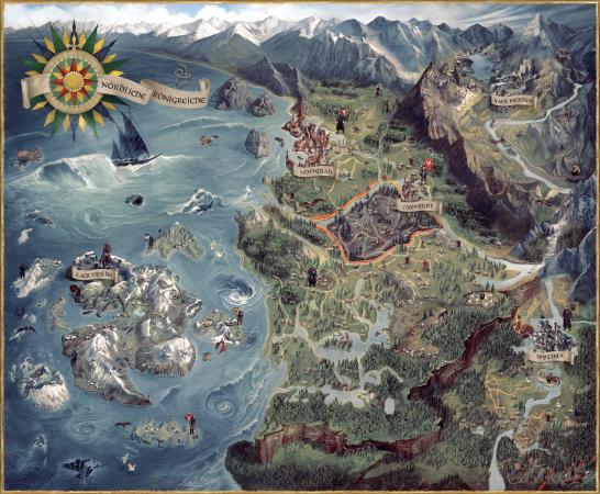 witcher karte Weltkarte – Offizielles Hexer Wiki   Charaktere, Monster, Orte