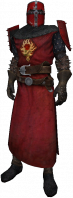 Order knight, dress uniform, red helmet, plain detail