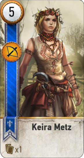 Tw3 gwent card face Keira Metz.png