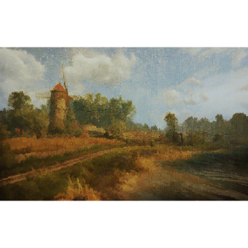 Harvest Time in White Orchard