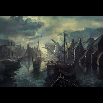 Nave che lascia il porto, 1220 (riproduzione)