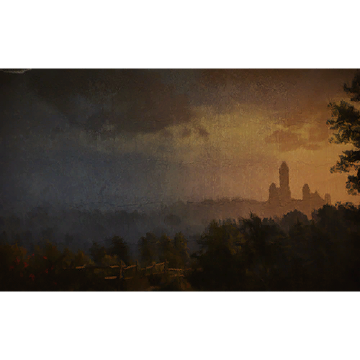 Aretusas Turm bei Sonnenuntergang