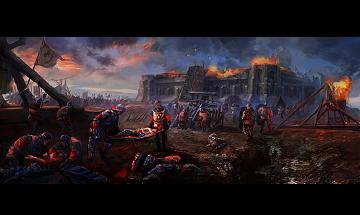 Die Schlacht von Anghiari, 1206 (Reproduktion)