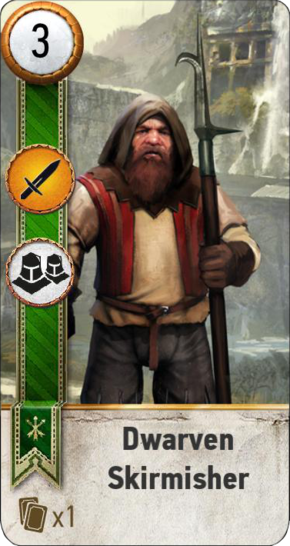 Tw3 gwent card face Dwarevn Skirmisher 1.png