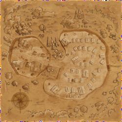 """Karte der befestigten Stadt aus der Modifikation """"Deception"""""""