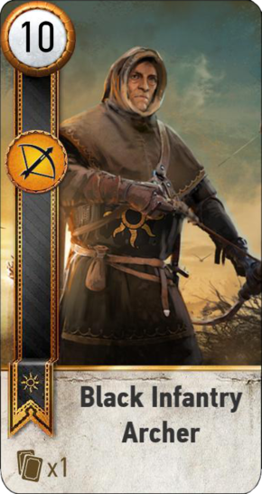 Tw3 gwent card face Black Infantry Archer 1.png